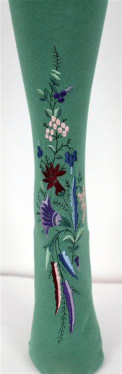 302-12 Stockings Embroidery - Victorian Floral