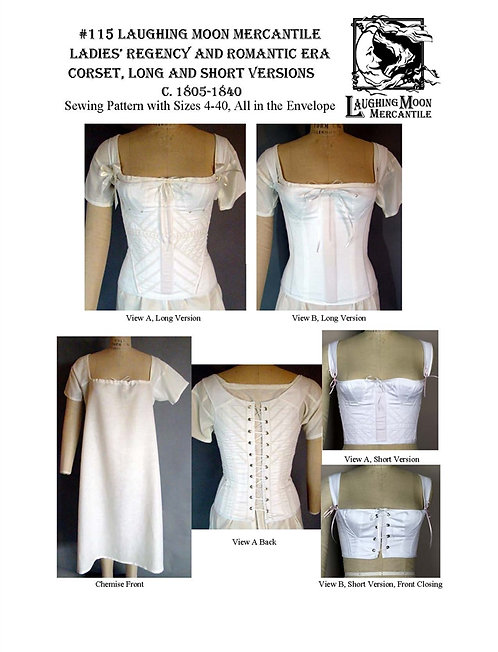 #115 Download - Regency Corset and Chemise