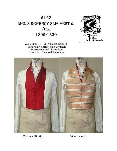 Pattern #123 Men's Regency Vest and Slip Vest