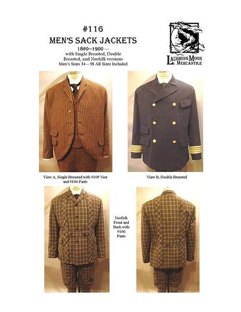 Pattern #116-Men's Sack Jackets