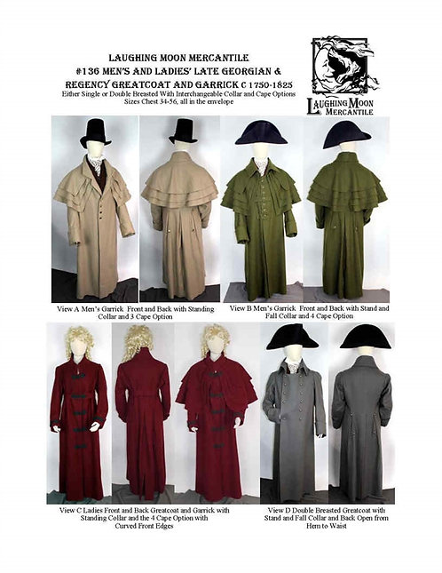 #136 Download - Late Georgian and Regency Greatcoat and Garrick
