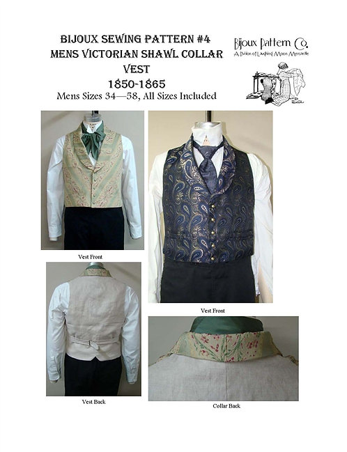 Pattern # BPC-4 Shawl Collar Vest