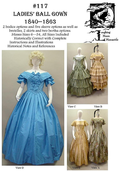 Pattern # 117-Ladie's Ball Gown