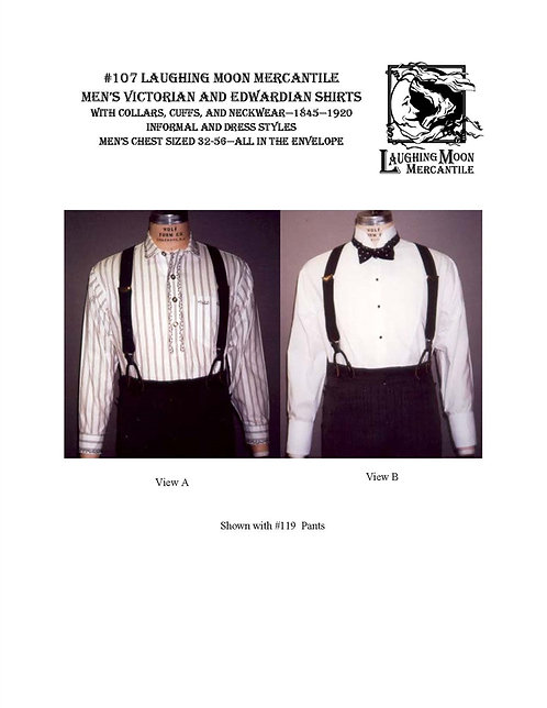 Pattern #107 Men's Victorian Shirts and Ties