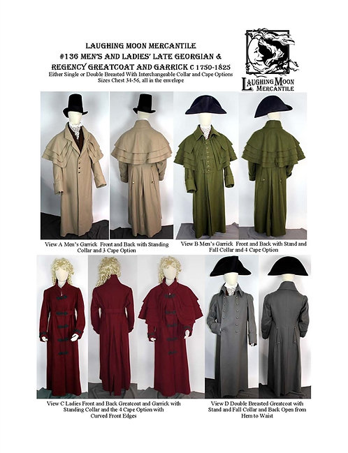 Pattern # 136 Garrick and Greatcoat