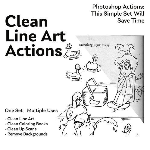 Clean Line Art Photoshop Actions