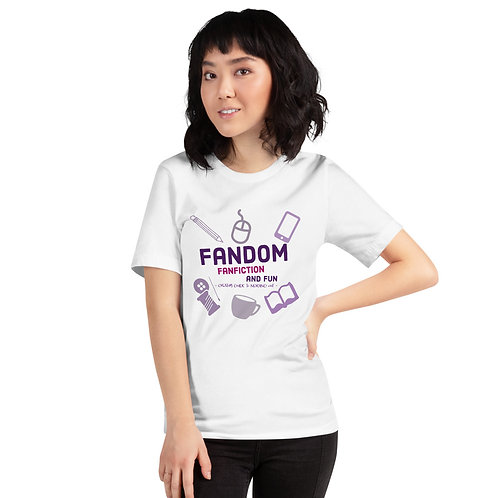 Fandom Fanfiction and Fun Short-Sleeve Unisex T-Shirt