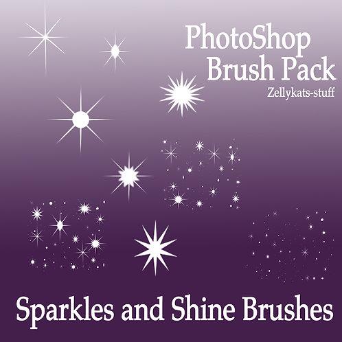 Sparkle and Shine Photoshop Brushes