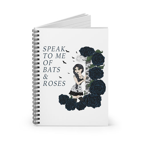 Bats and Roses - Spiral Notebook - Ruled Line