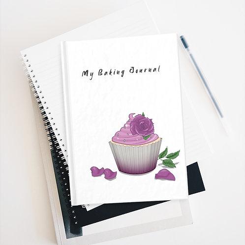 Rose Cupcake Baking Journal - Blank