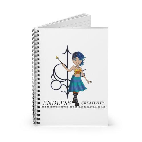 Endless Creativity Spiral Notebook - Ruled Line