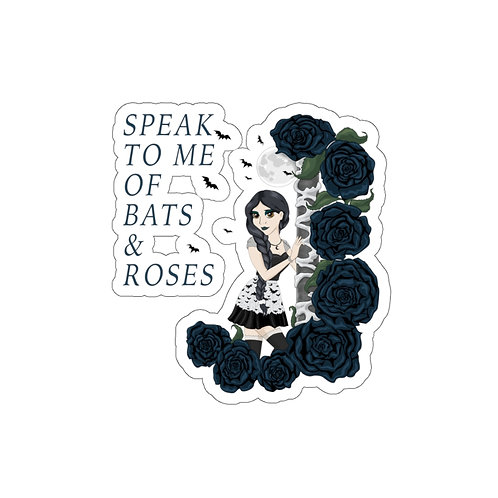 Bats and Roses - Kiss-Cut Stickers