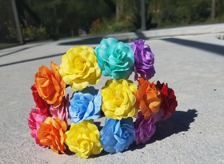 Rainbow Flower Crowns (& The Pride Parade)