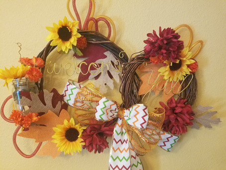 DIY Fall Wreath (Dollar-Store-Challenge)