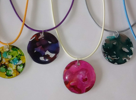 Alcohol Ink Pretty Pendants