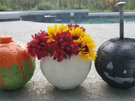 Crafty Concrete Pumpkins