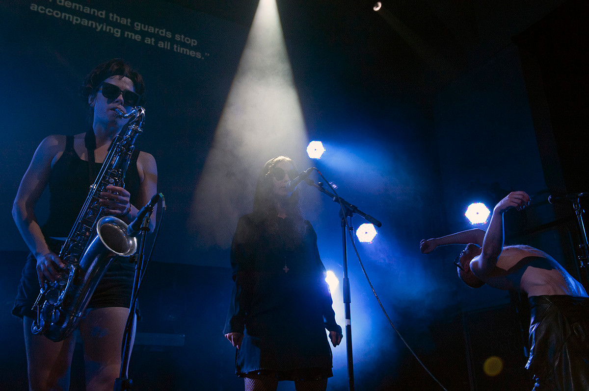 Pussy Riot show in Edinburgh, Scotland, UK.