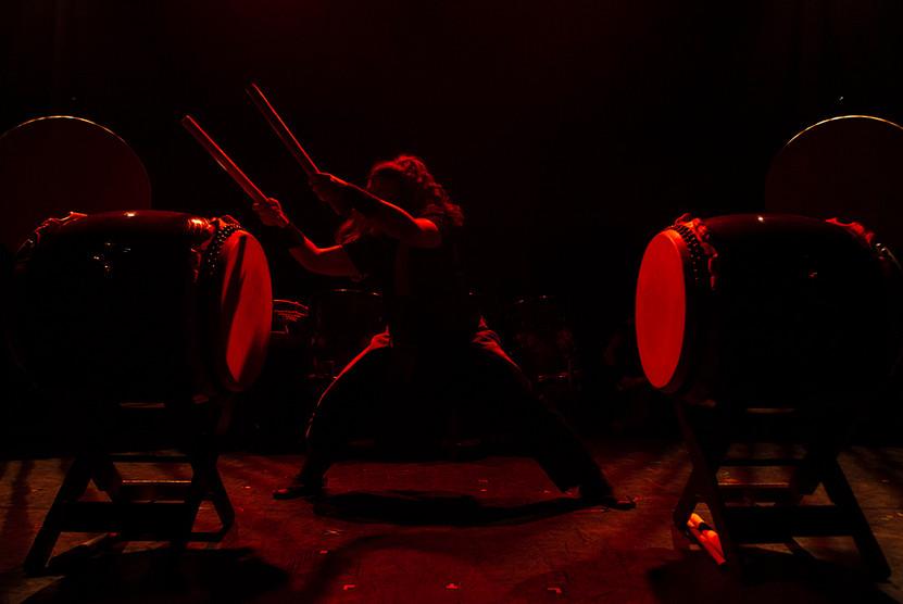 Mugen Taiko performance in Edinburgh.