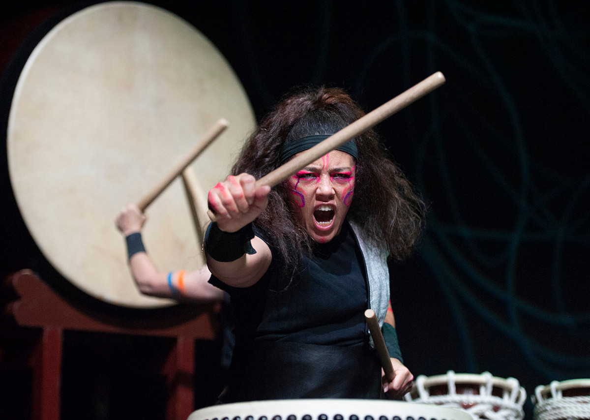 Traditaional Japanese drums performance in Scotland.