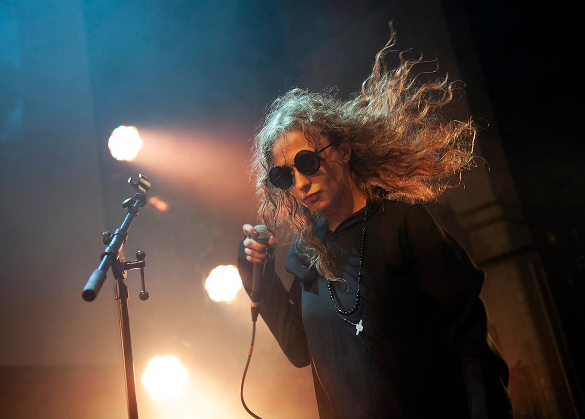 Maria Alyokhina performing in Scotland.