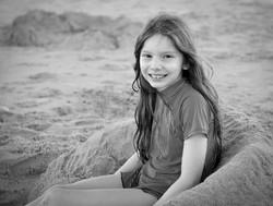 Girl's portrait on a beach.