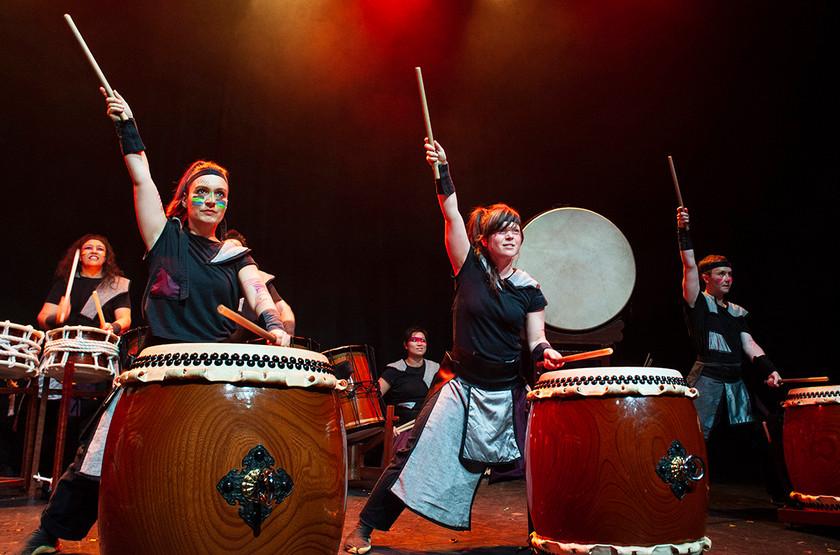 Wadaiko performance at Assembly Hall, Edinburgh.