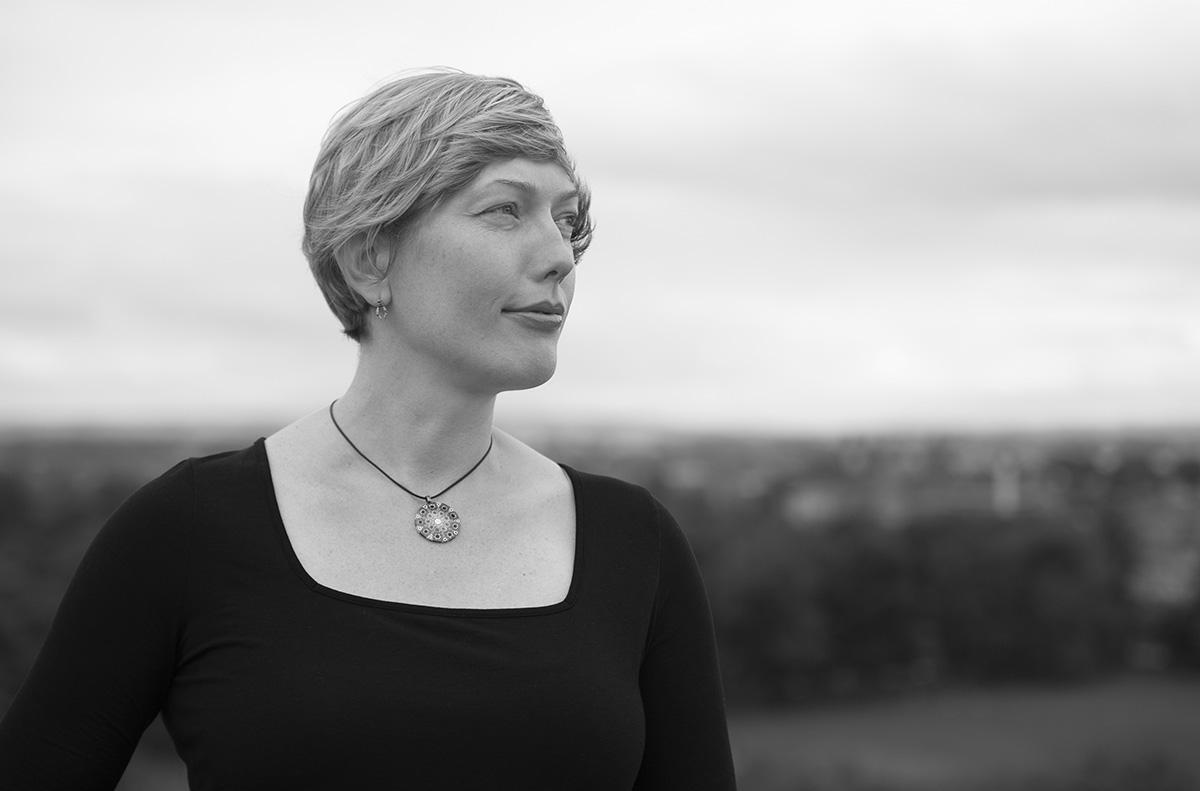 Lady's portrait taken in Edinburgh.
