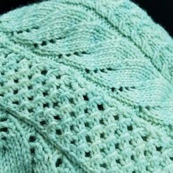 This beautiful #testknit shawl is keepin