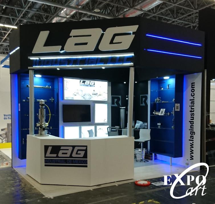 Expo Art   Diseño de stands para expos   Cliente: LAG