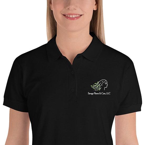 Savage Flame & Care LLC Embroidered Women's Polo Shirt