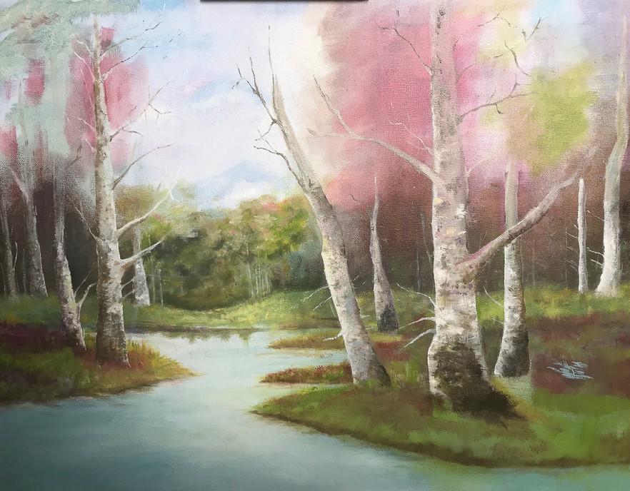 Cathy's Landscape in Oil