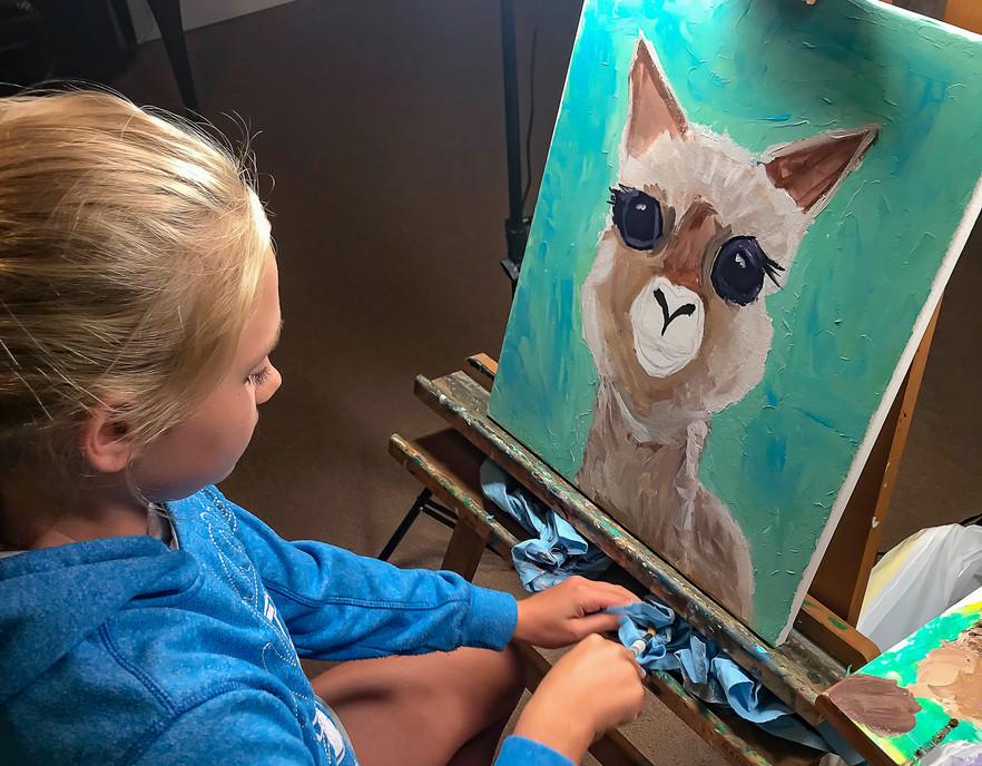 Ella's Alpaca in progress
