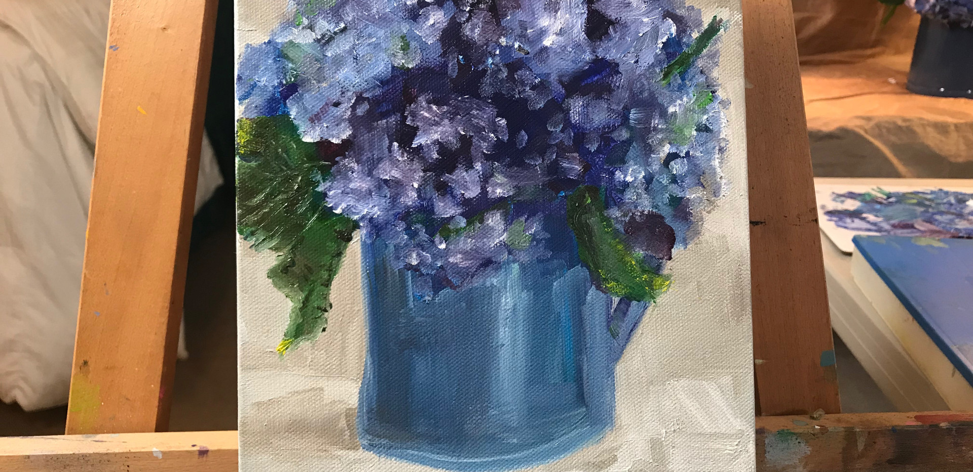 Adult Class Still Life Hydrangea in Oil