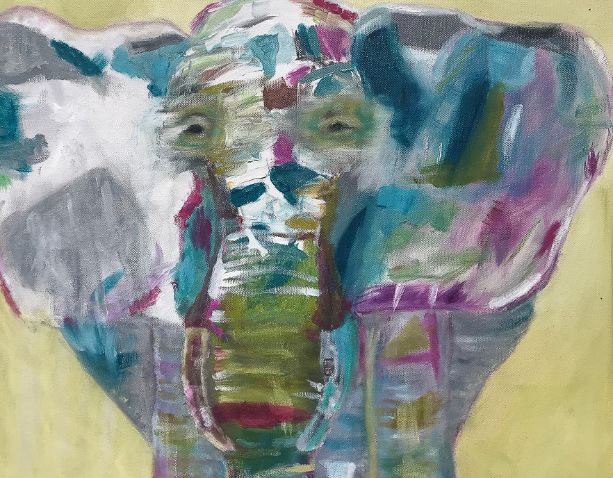 Abstract Elephant in Oil