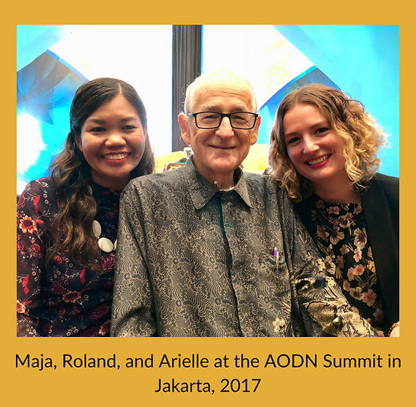 Maja, Roland, and Arielle at the AODN Su