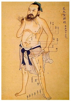 Chinese Diagram of the Spleen Acupuncture Meridian