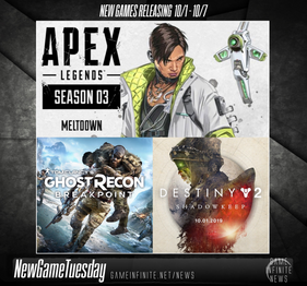 New Game Tuesday, Games Releasing 10/1 - 10/7