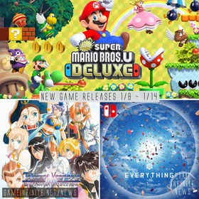 NEW YEAR NEW GAMES! New Game Tuesday 1/8 - 1/14