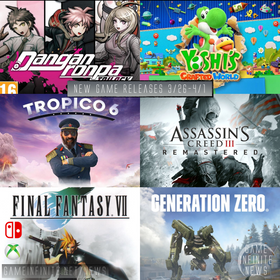 New Game Tuesday, Games Releasing 3/26 - 4/1