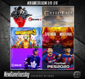 New Game Tuesday, Games Releasing 9/10 - 9/16
