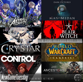New Game Tuesday, Games Releasing 8/27 - 9/2