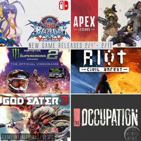 New Game Tuesday, Games Releasing 2/4*-2/11