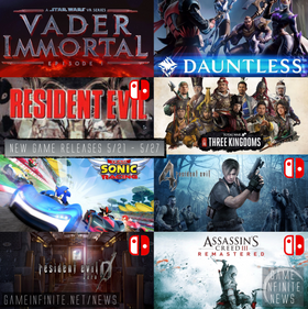 New Game Tuesday, Games Releasing 5/21 - 5/27