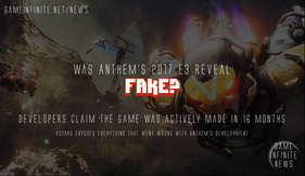 Anthem's E3 Reveal FAKED: Game made in 16 Months