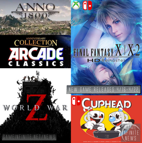 New Game Tuesday, Games Releasing 4/16 - 4/22