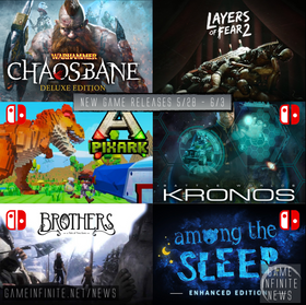 New Game Tuesday, Games Releasing 5/28 - 6/3