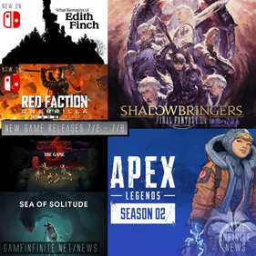 New Game Tuesday, Games Releasing  - 7/2 - 7/8