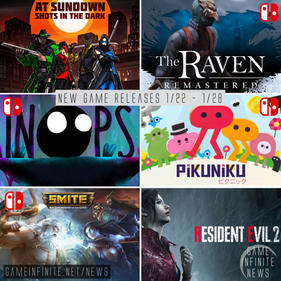 New Game Tuesday, Games Releasing 1/22-1/28