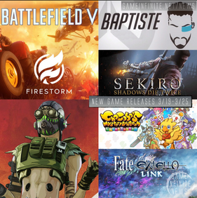 New Game Tuesday, Games Releasing 3/19 - 3/25