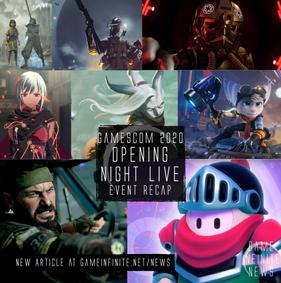 Gamescom Opening Night Live 2020 Event - Recap